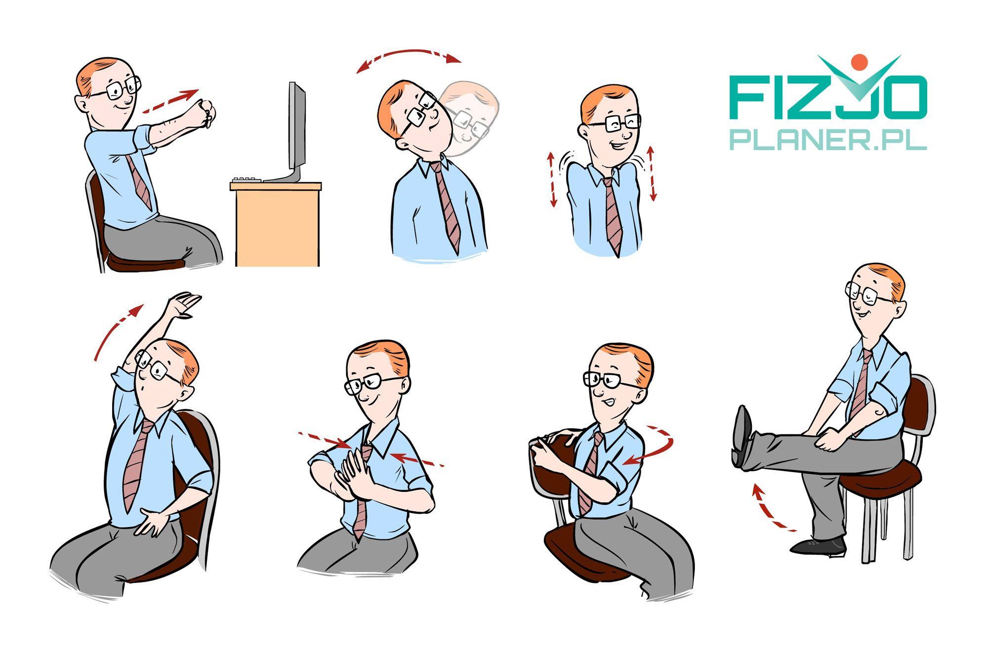 ćwiczenia w siedzeniu fizjoplaner.pl