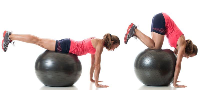 ćwiczenia stabilizacji z piłką
