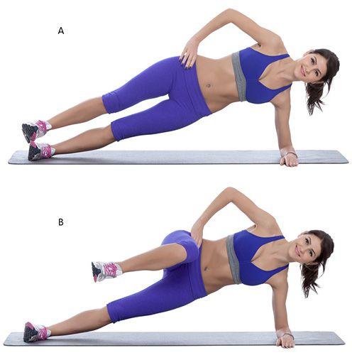 ćwiczenie mięśni brzucha - pozycja deski