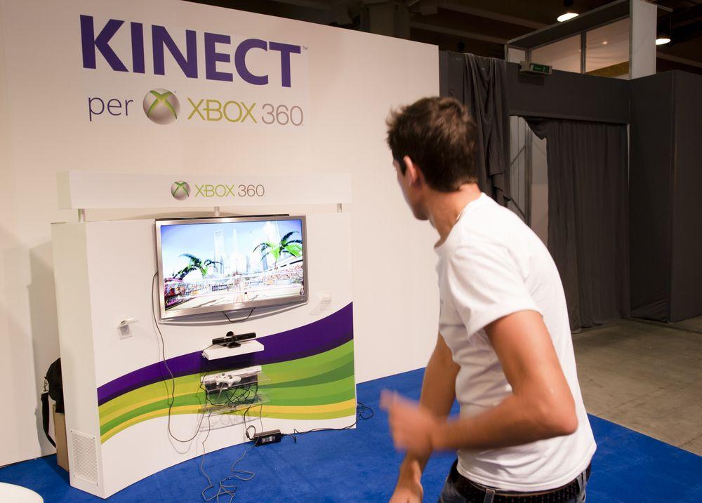 gra z wykorzystaniem konsoli Xbox Kinect