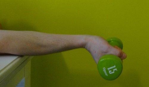 ćwiczenia zginania nadgarstka