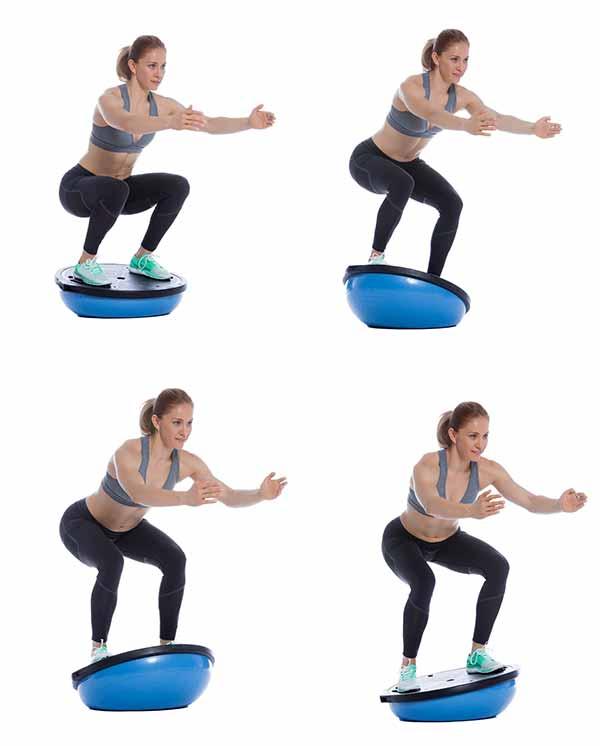 ćwiczenia stabilizacyjne z piłką bosu