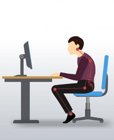 zła pozycja za biurkiem