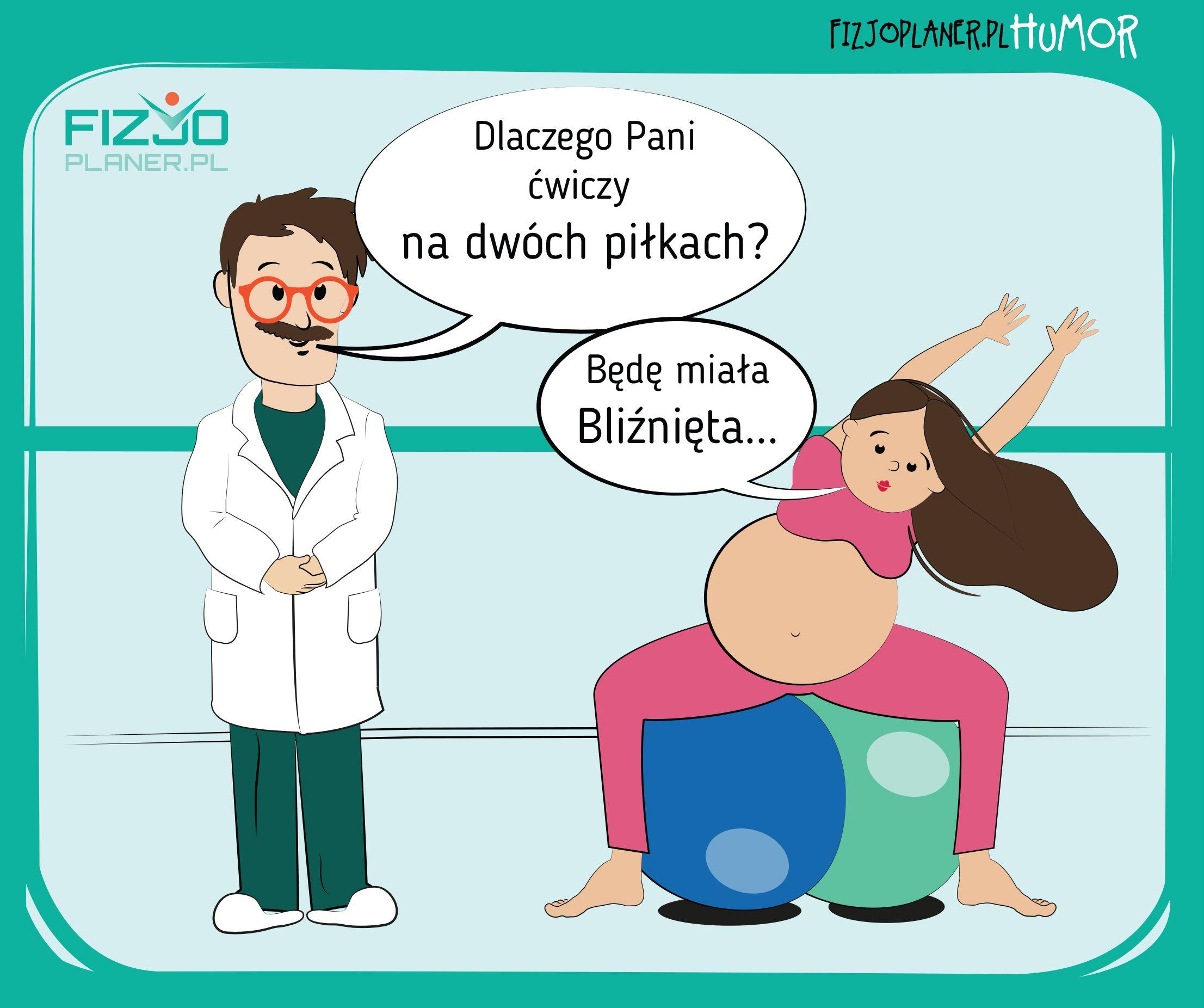 ćwiczenia kobiet w ciąży fizjoplaner.pl/humor
