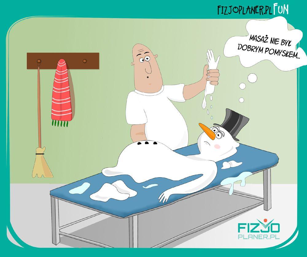 fizjoterapia humor - masaz balwana