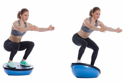 ćwiczenia sensomotoryczne na piłce bosu
