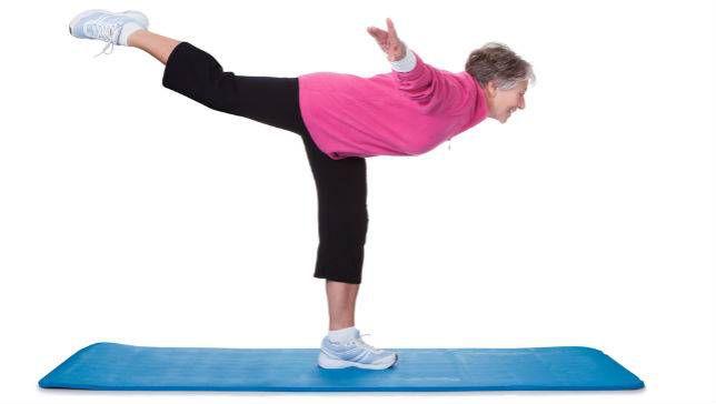 Stanie na jednej nodze - ćwiczenie czucia głębokiego