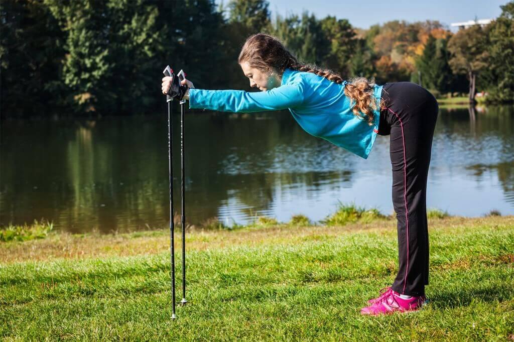 ćwiczenia z kijkami do nordic walking
