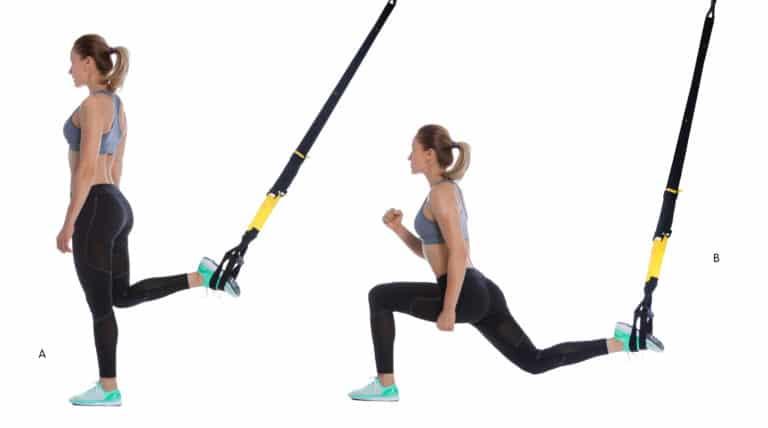 TRX single leg back squat