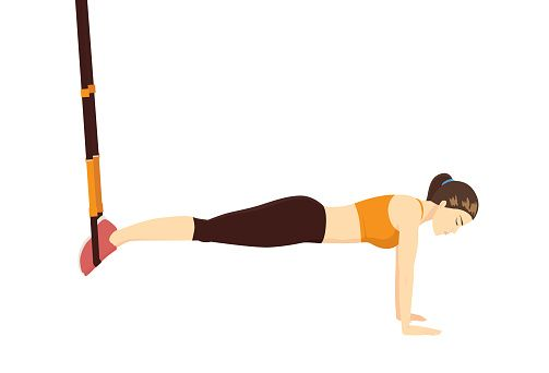 TRX suspended plank on hands