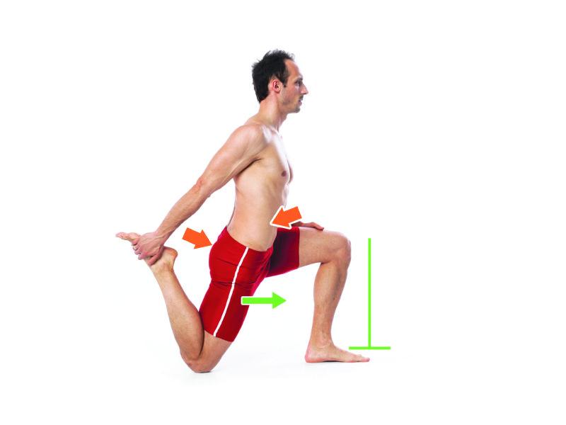 Rozciąganie mięśnia czworogłowego