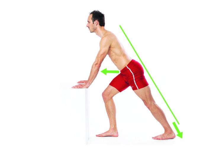 Rozciąganie mięśnia brzuchatego łydki