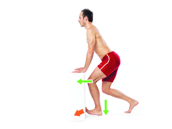 Rozciąganie mięśnia płaszczkowatego łydki